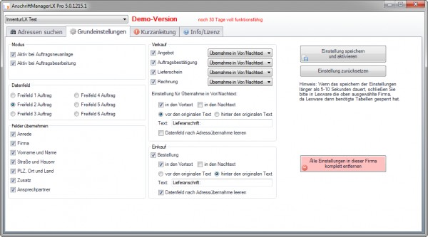 Anschriftmanager LXPro | LXTools